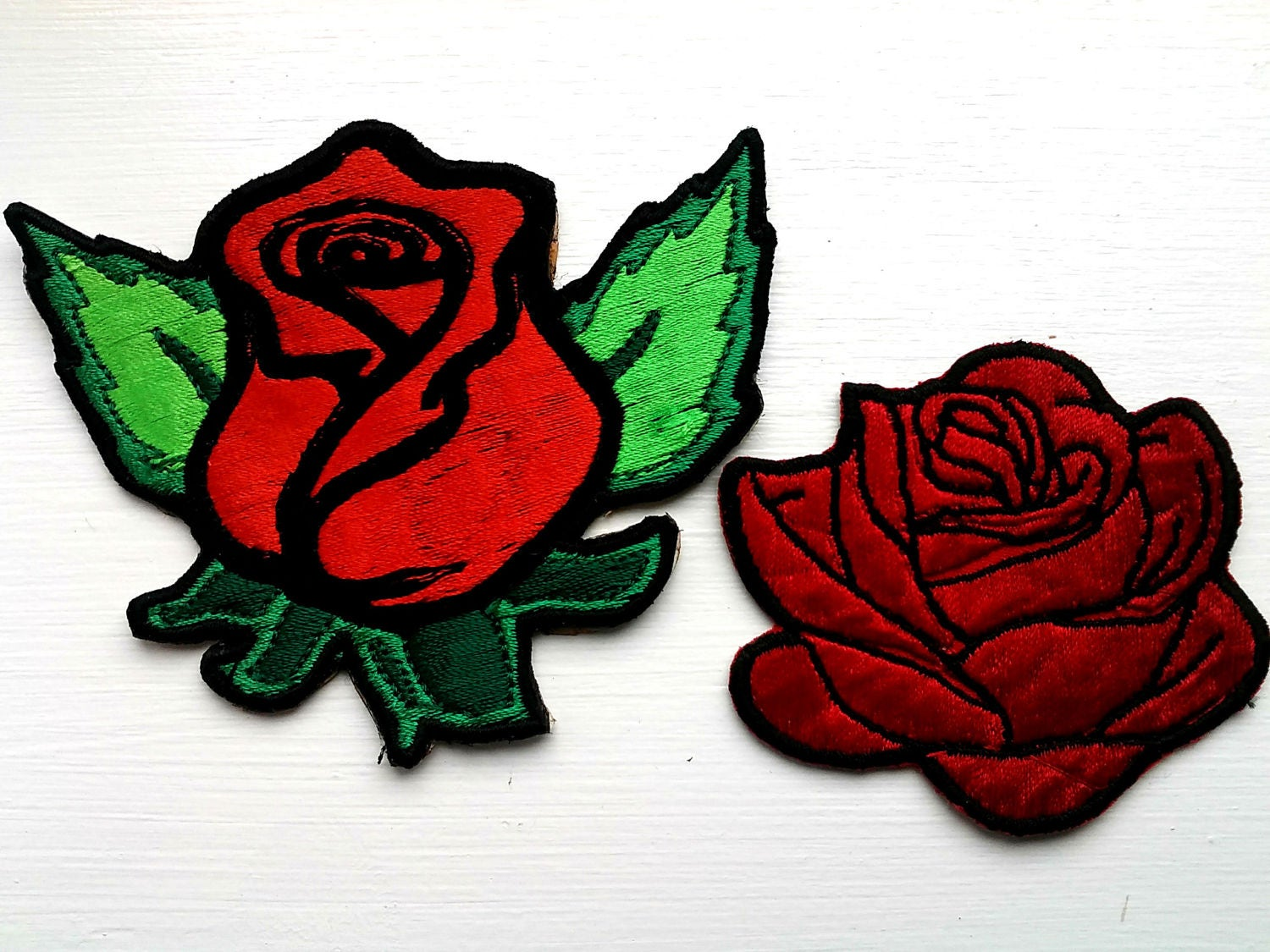 Rose Flower Floral Embroidery Patches Sew Iron On Badge Bag Hat Jeans Dress Fabric Applique
