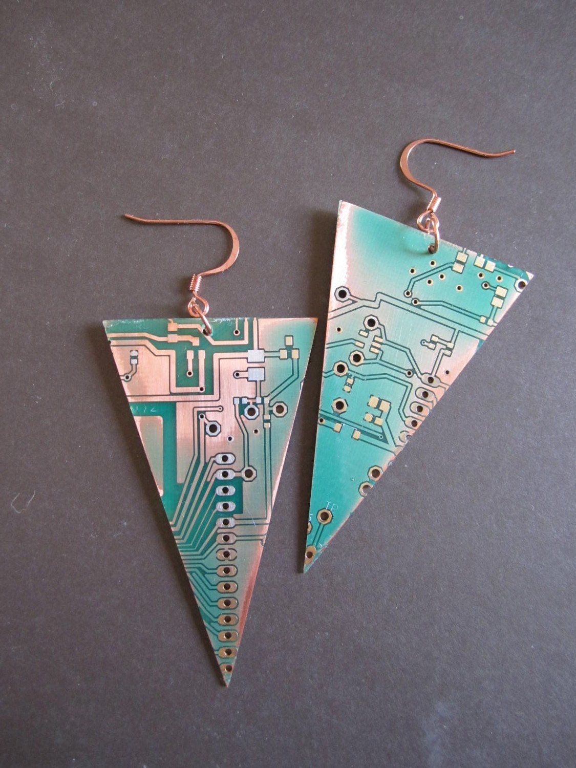 Inverted Pyramids Upcycled Earrings