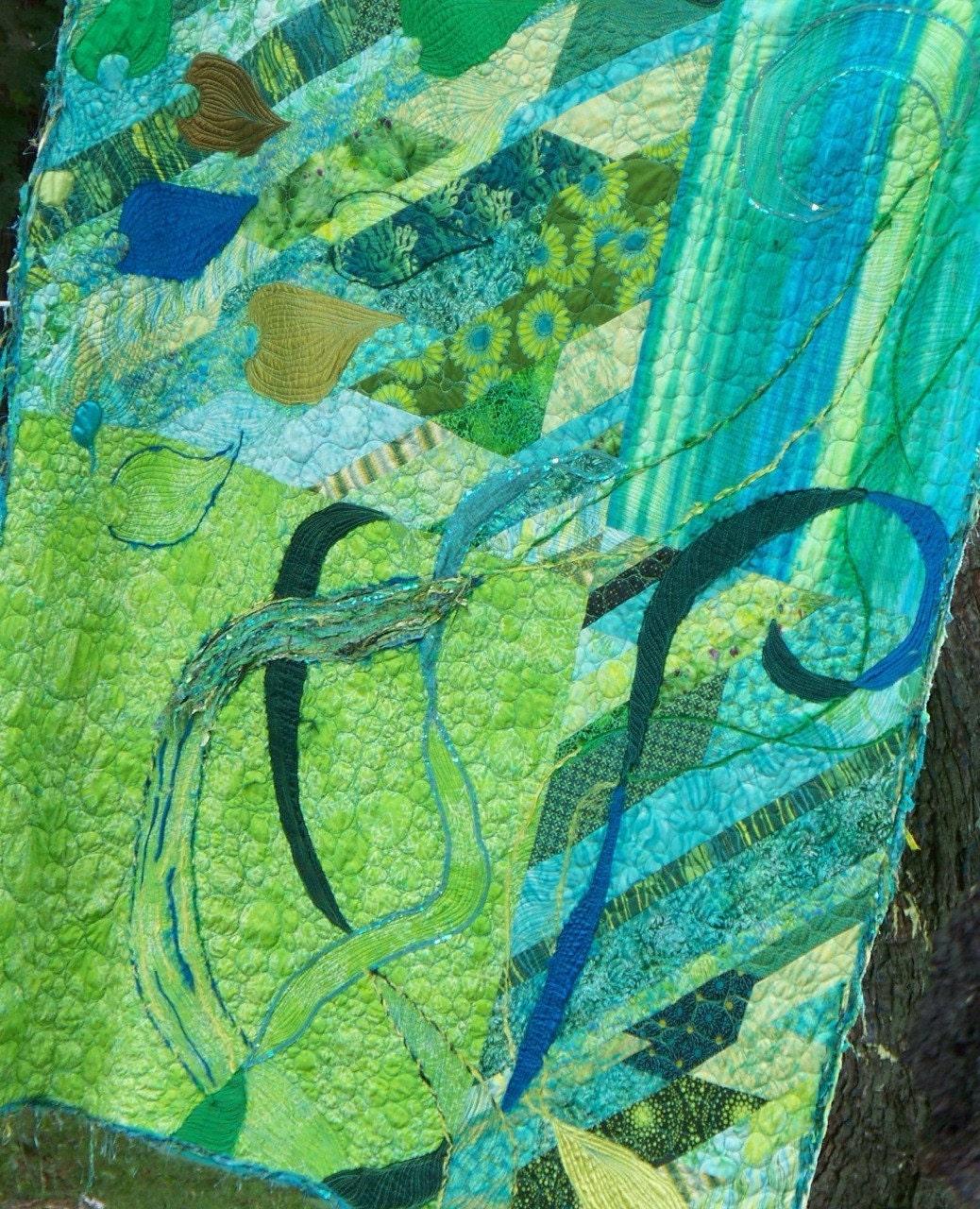 Pacific Coast fiber art quilt