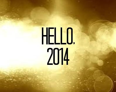 New Years eve 2014 Hello 2014 Gold sign 10x8 - atasteofeverything