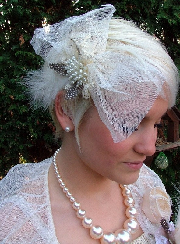 HEATHER..BEAUTIFUL hair accessory for a handmade wedding..