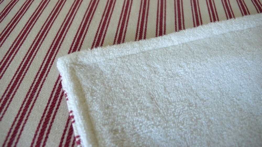Red stripe change mat/burp cloth
