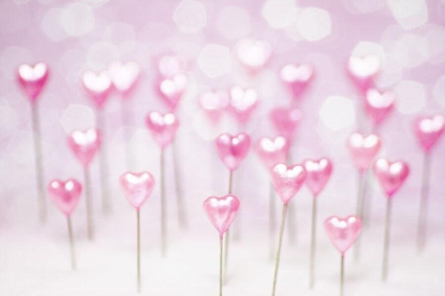 Pretty Pink Hearts (5x7)