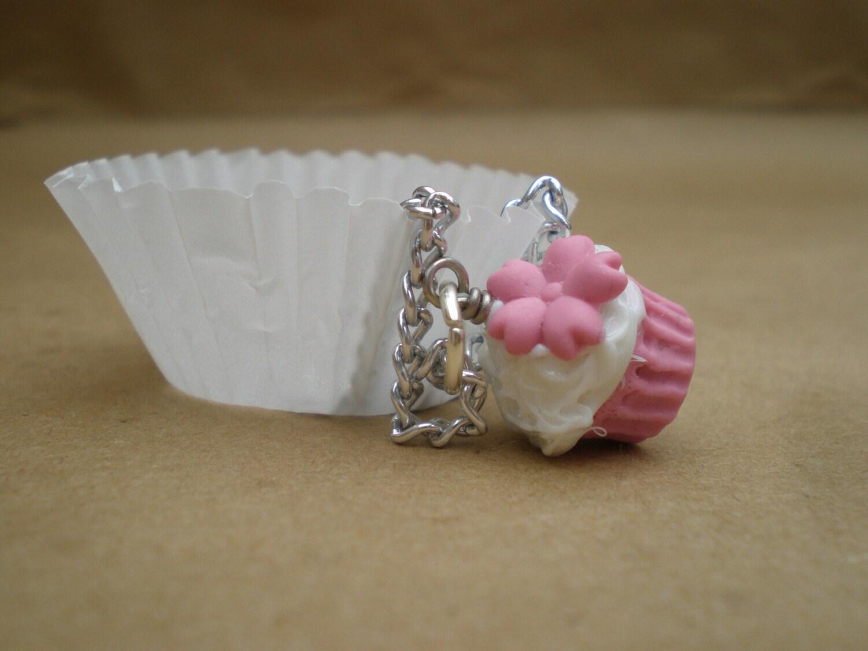 Pink Sakura/Cherry Blossom Cupcake Necklace