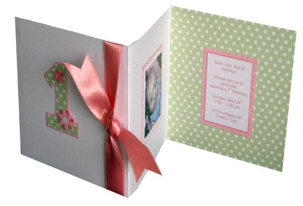 CUSTOM handmade trifold party invitations