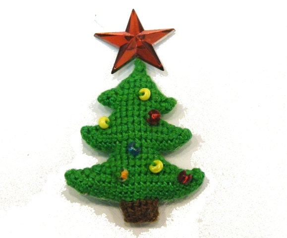 Amigurumi Christmas Tree Patterns : Christmas Tree - pattern for crocheted amigurumi ...