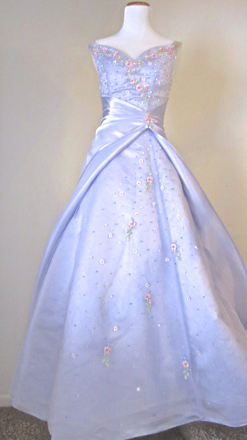 Vintage PROM Dress Alyce Designs French Ball Gown Pageant Long Multi ...
