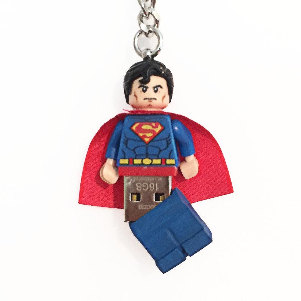 Lego Superman USB Minifig Keychain