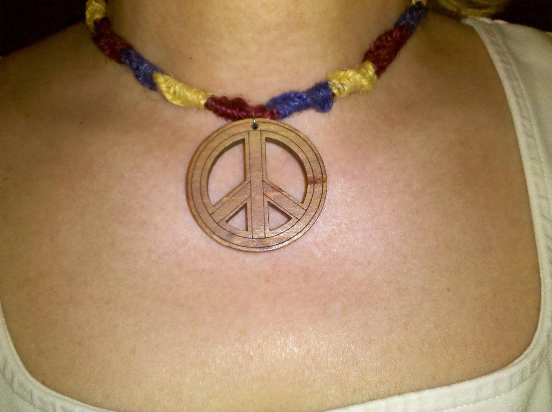 Hemp Peace Choker  14.5 in.