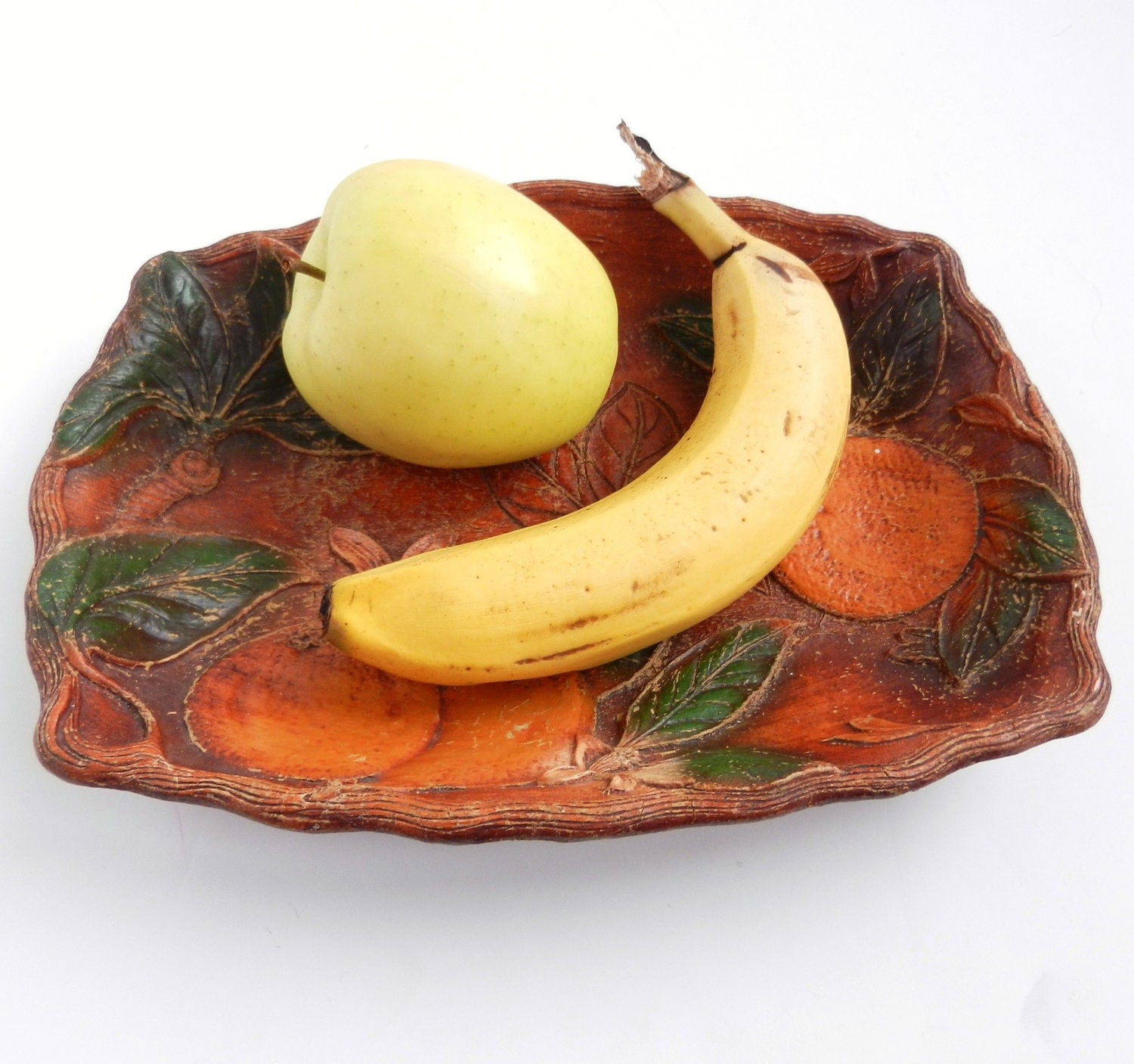 Sale antique wooden fruit bowl dark wood late by