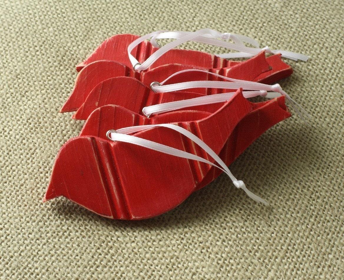 redbird beadboard ornaments