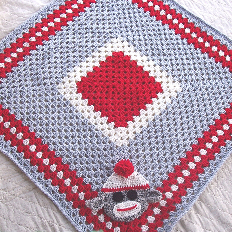 Baby Sock Monkey Blanket Baby Monkey Blanket 30 x by ...
