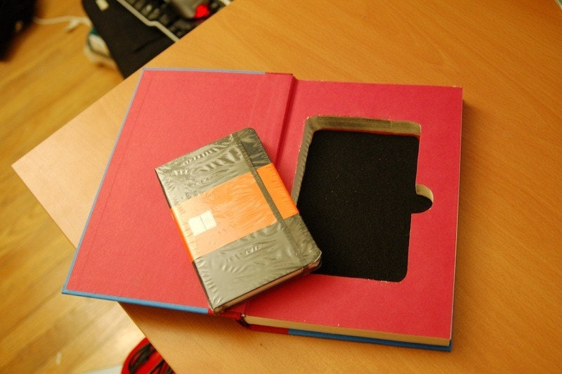 Moleskine Notebook Hollow Hidden Book Safe (The Lottery Winner)