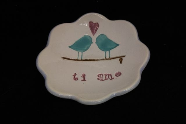 Love Birds Ring Bowl Ti Amo