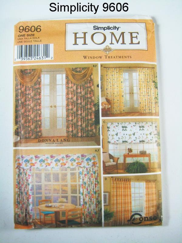 Http Www Etsy Com Listing 109803909 Simplicity Home Decor Pattern 9606
