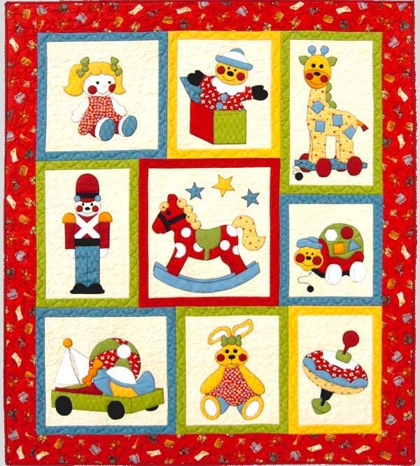 Ye Olde TOY SHOP Quilt PATTERN ~ Cute Children's Applique and Pieced ...
