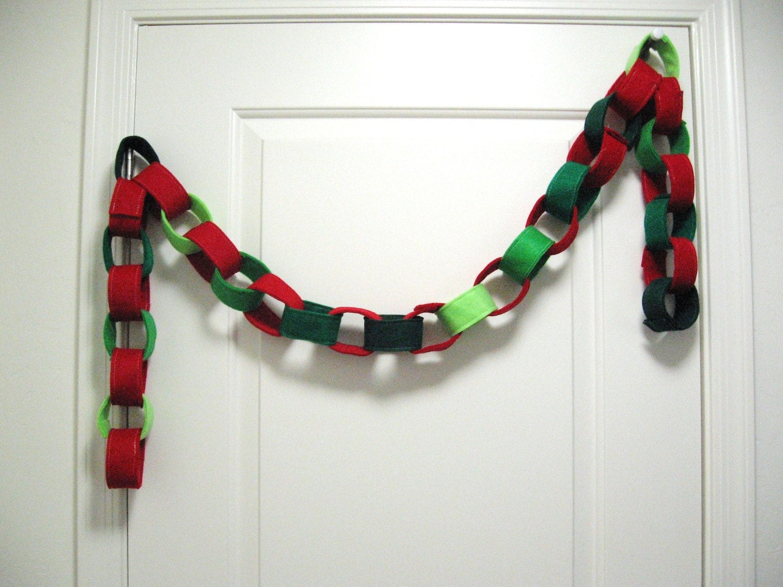 Christmas Felt Chain Garland