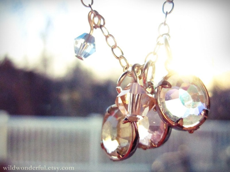bokeh love. sparkling, light reflecting magical necklace.