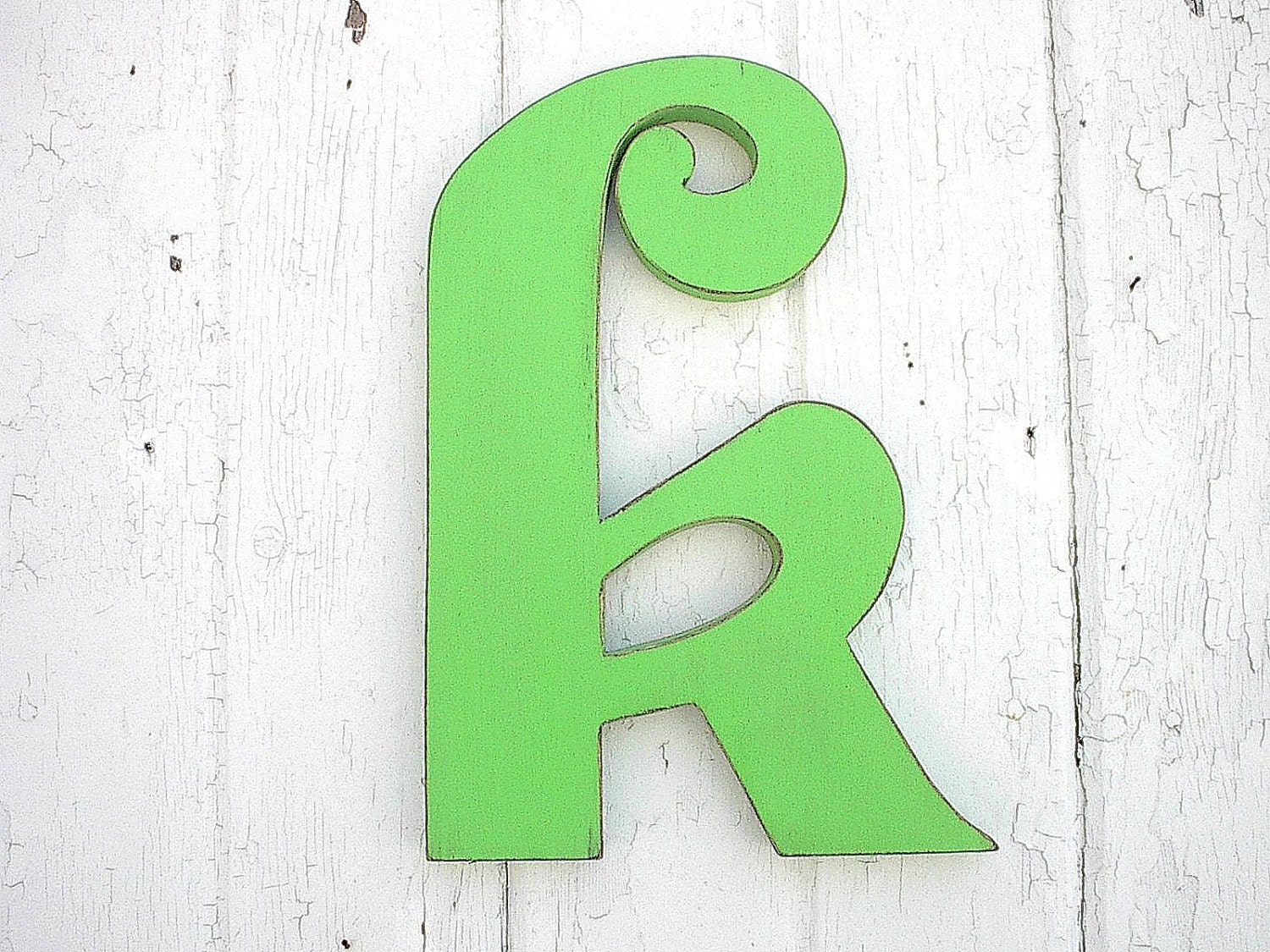 Lowercase Letters Wall Decor : Wooden wall decor letter k green lower case by
