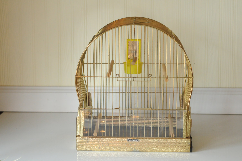 Bird Cage Vintage Hendryx Art Deco Style Brass Tone Birdcage Vintage ...