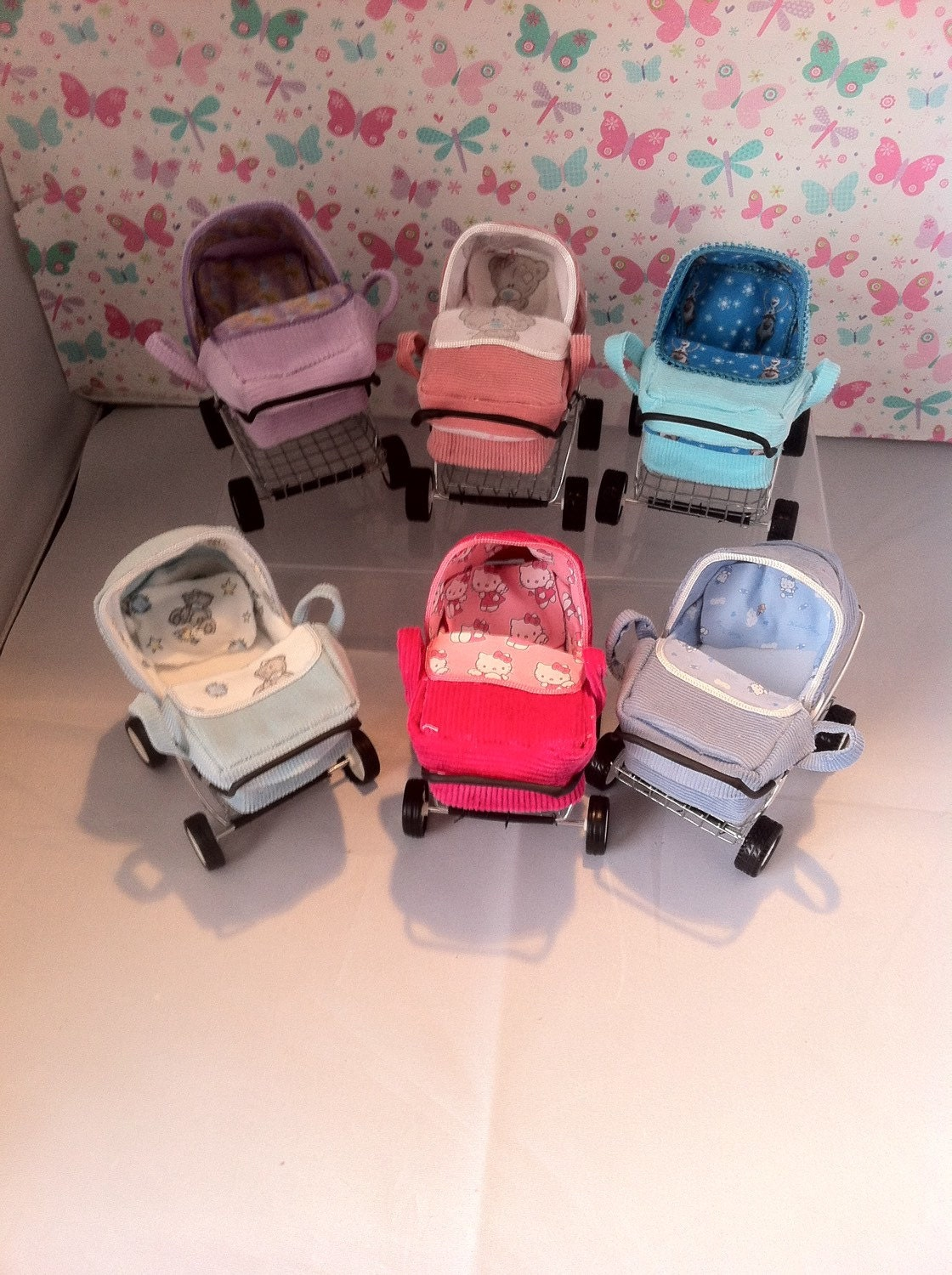 Dolls House Miniature OOAK Modern Carry Cot Baby Pram