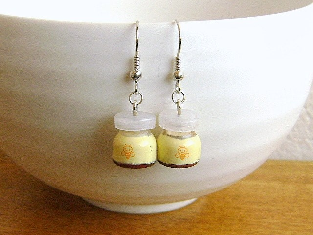cute pudding earrings