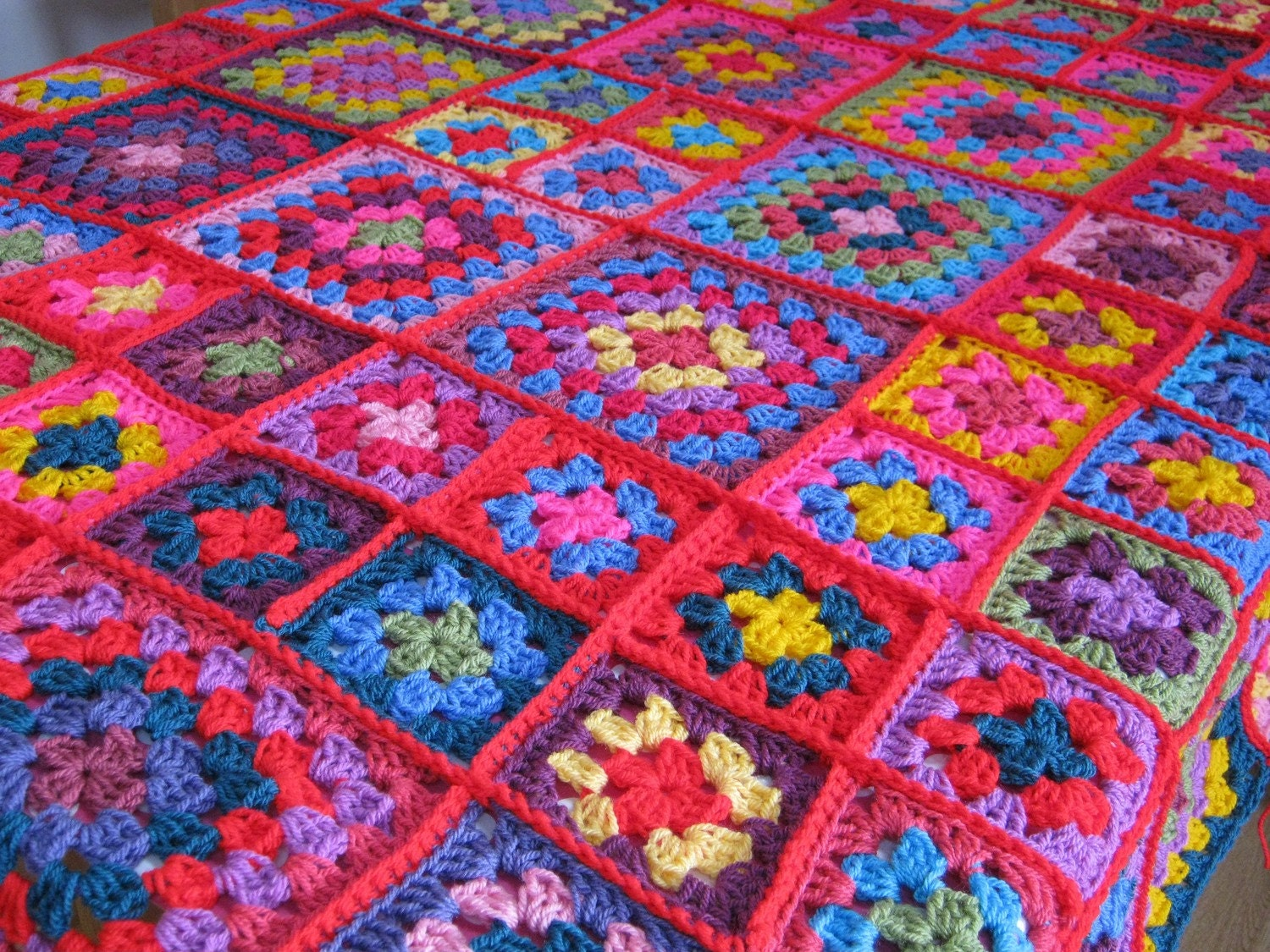 Dolly Granny Square Blanket Afghan CROCHET PATTERN PDF