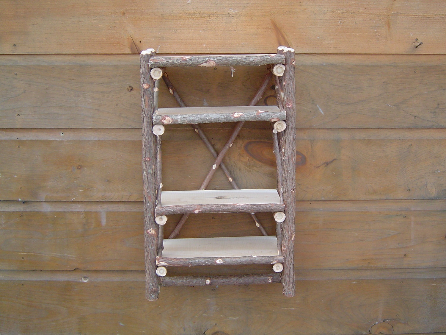 Maine Rustic Camp Bathroom Wall Shelf Organizer By Logcabindecor