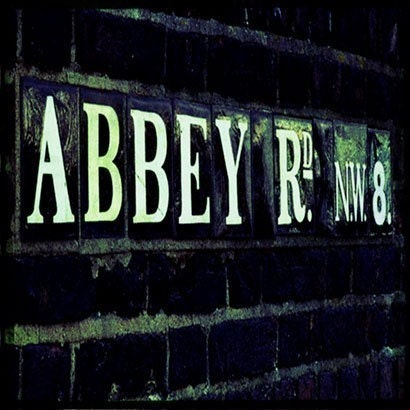 Abbey Road Sign LONDON Through The Viewfinder Photo Print