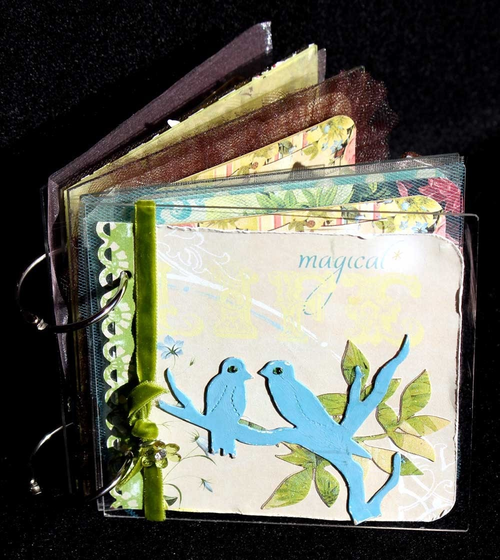 MAGICAL 6x6 Acrylic Mini Album by Elena Etcheverry-- COMPLETE and Ready to Add Photos