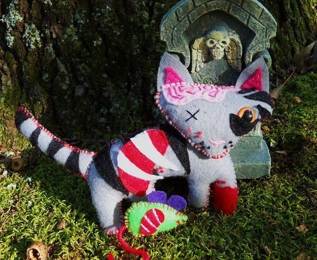 Zombify your Pet plush... Custom OOAK stuffed animal for you ECO friendly.
