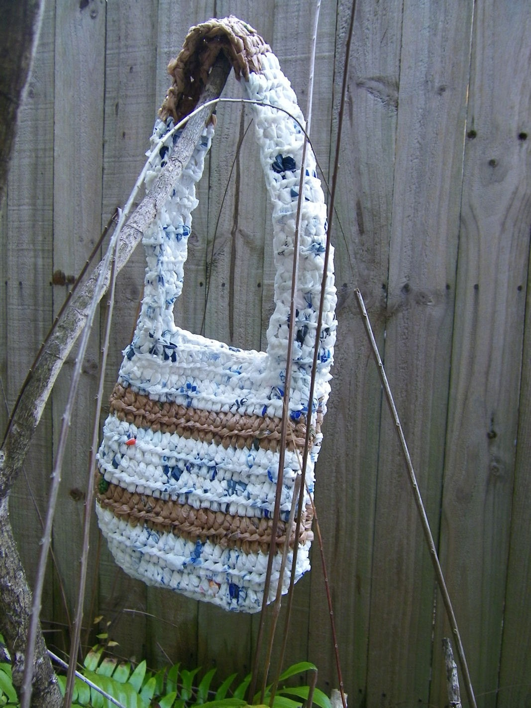 White Recycled Purse