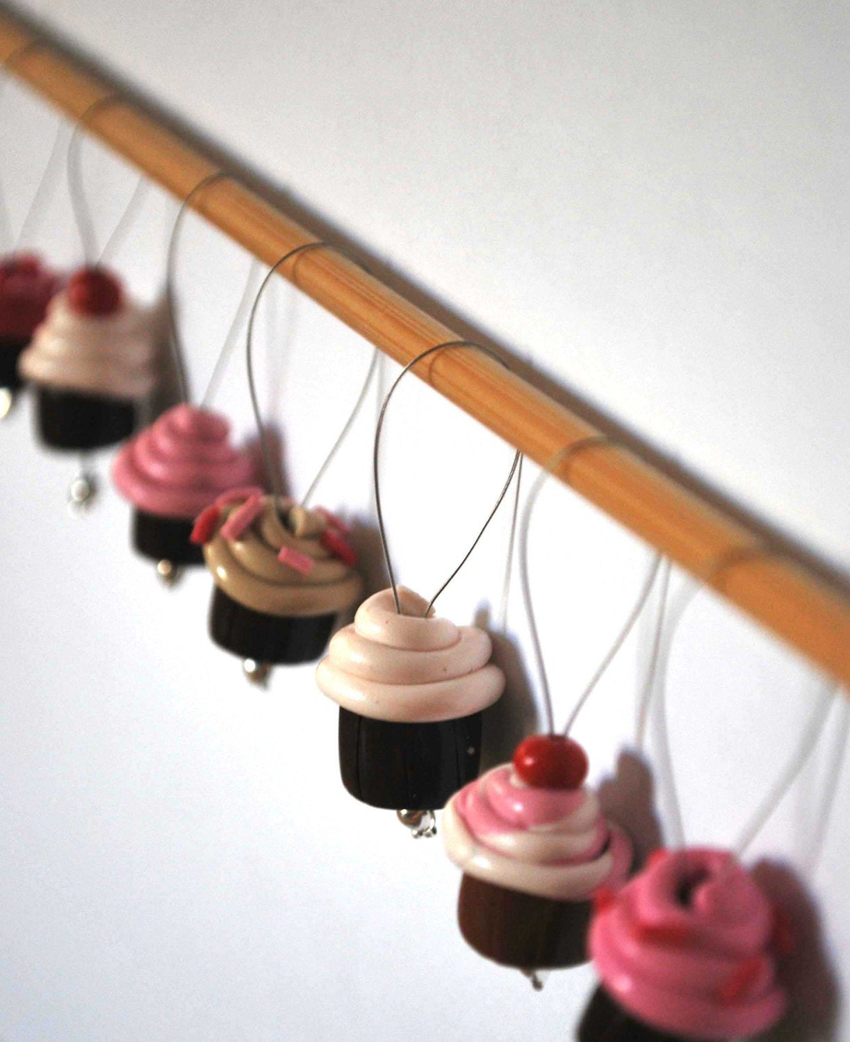 Cupcake Stitch Markers (Set of 4) by Knit1Slip1