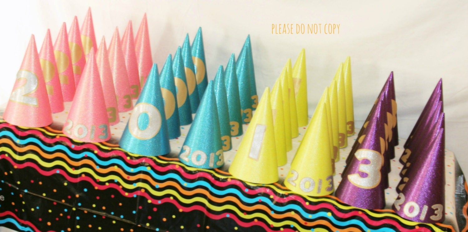 Neon New Years Eve Party Set Wedding Favor NYE party Noisemaker NYE wedding 2014 - PrettyLittleWedding