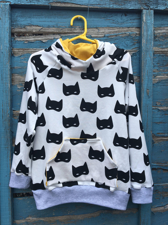 Batman hoody kids hoody handmade hoody batman sweater jersey jumper toddler sweater boys hoody toddler hoody
