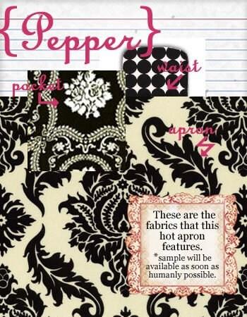 Pepper Hostess Apron Pre order