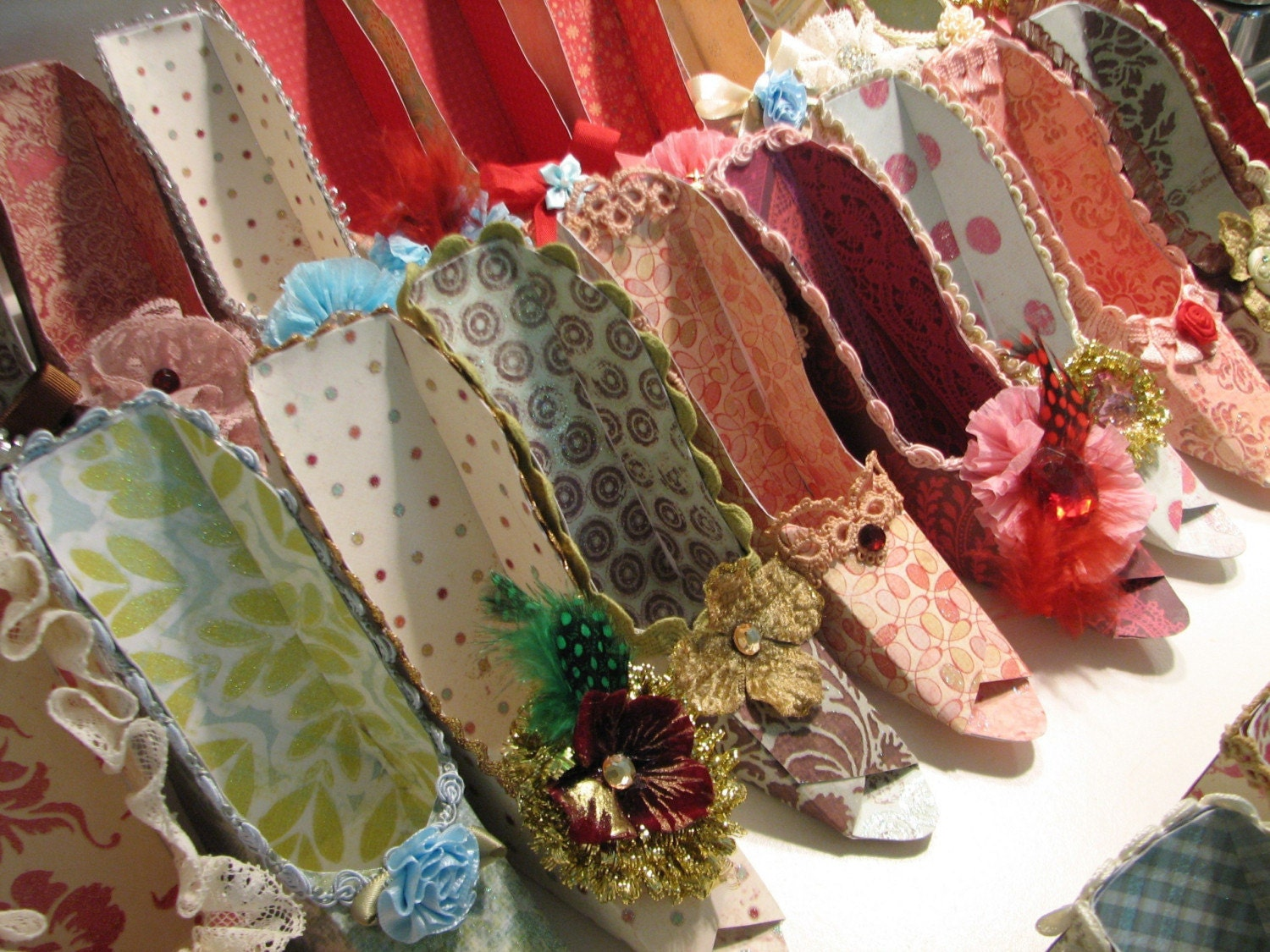Marie Antionette inspired fancy shoe favor boxes
