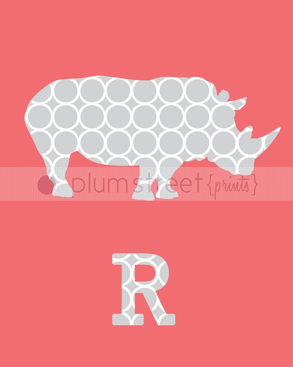 Rhino Children's Art - 8x10 Printable Art