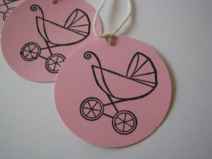 sweet baby buggy gift tags