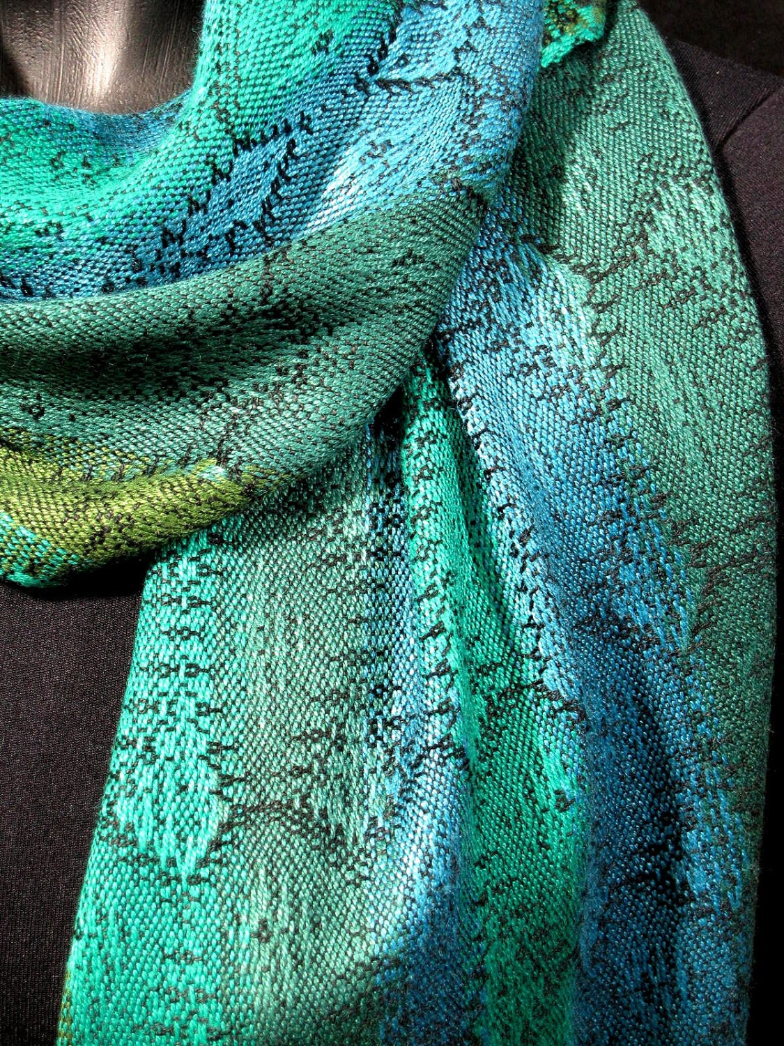 stunning handwoven scarf woven scarf by by loomonthelake