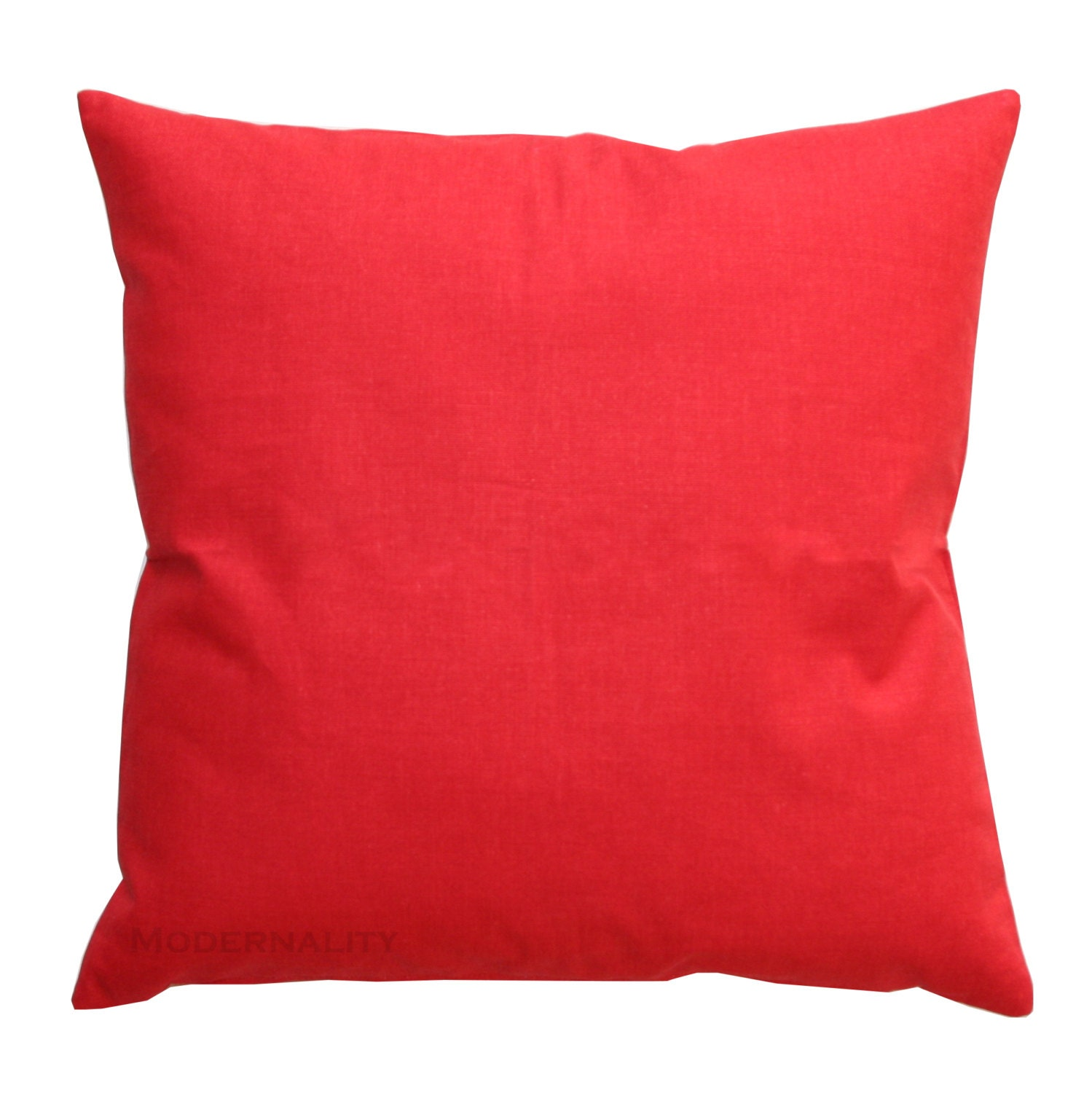 Clearance Solid Toss Pillows Bright Red Solid By Modernality2