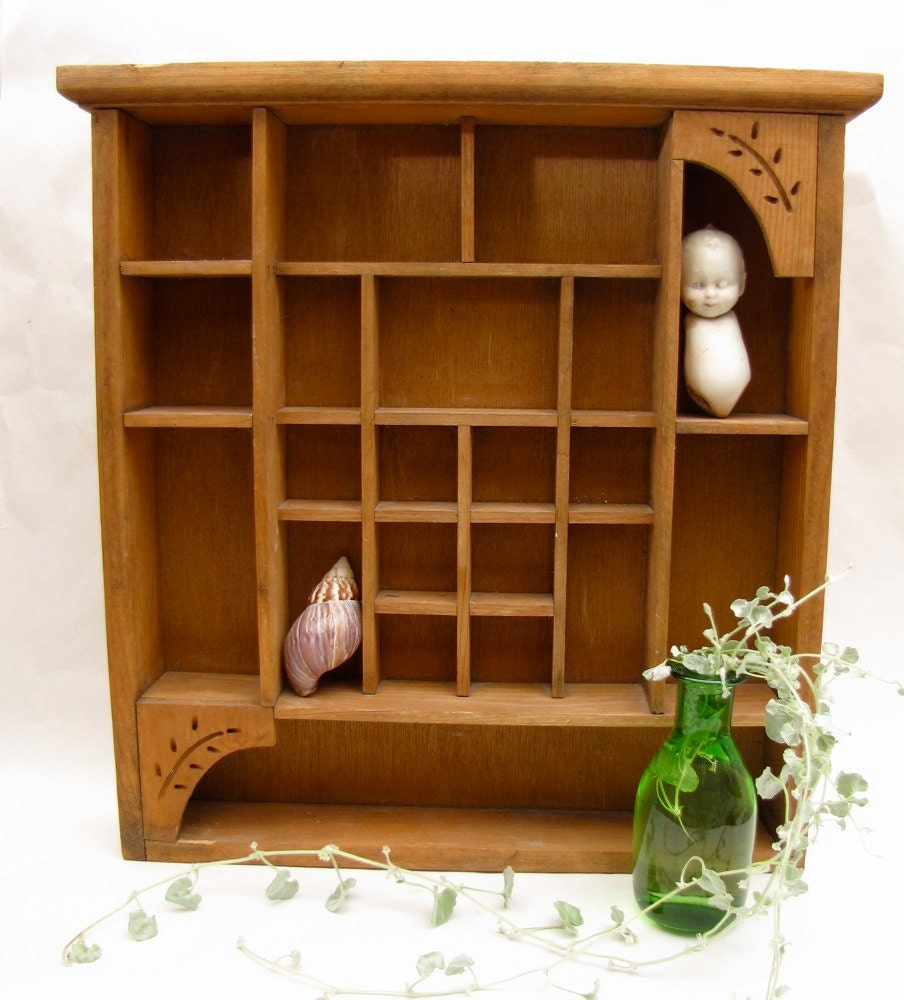 curio cabinet wall hanging wooden display by. Black Bedroom Furniture Sets. Home Design Ideas
