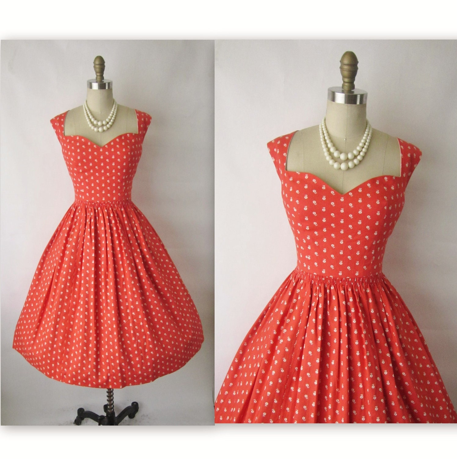 50 39 s garden party dress vintage 1950 39 s by thevintagestudio