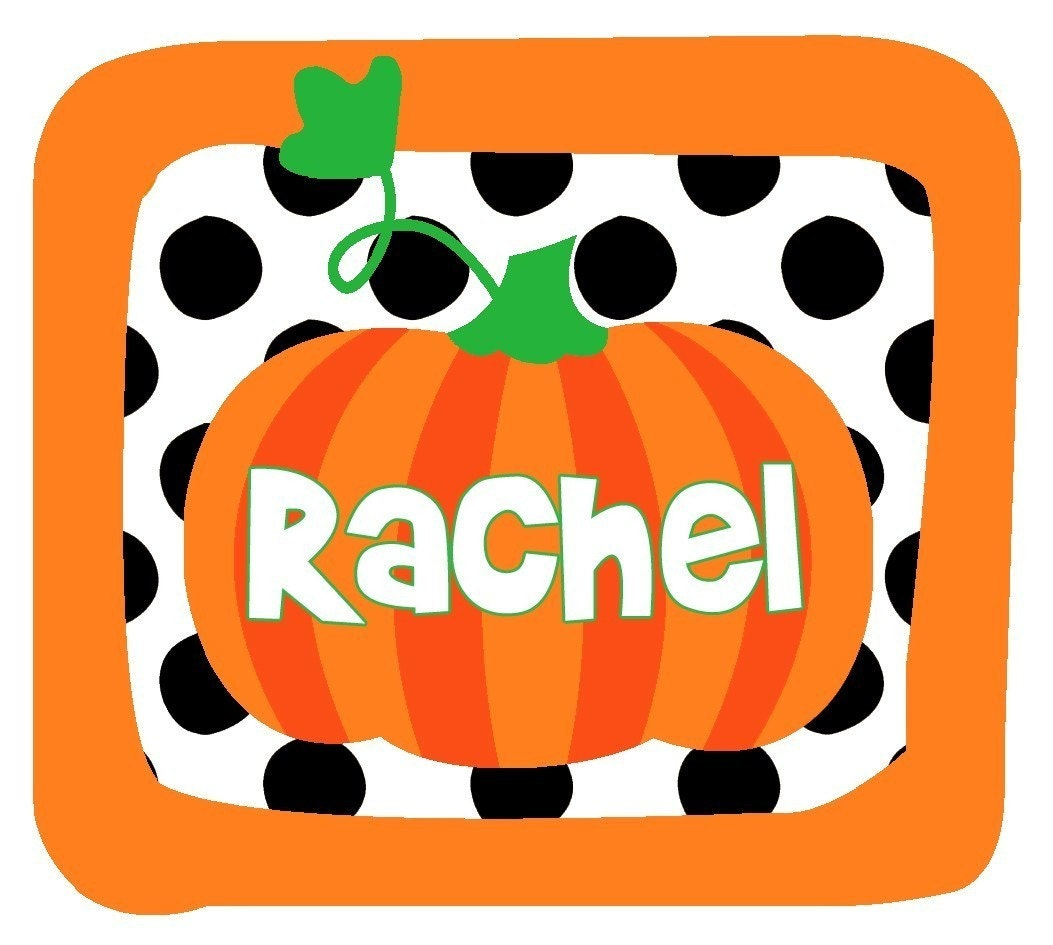Personalized POLKADOT HALLOWEEN PUMPKIN Design - Baby Bodysuit or Toddler Tee - Available in various colors and sizes