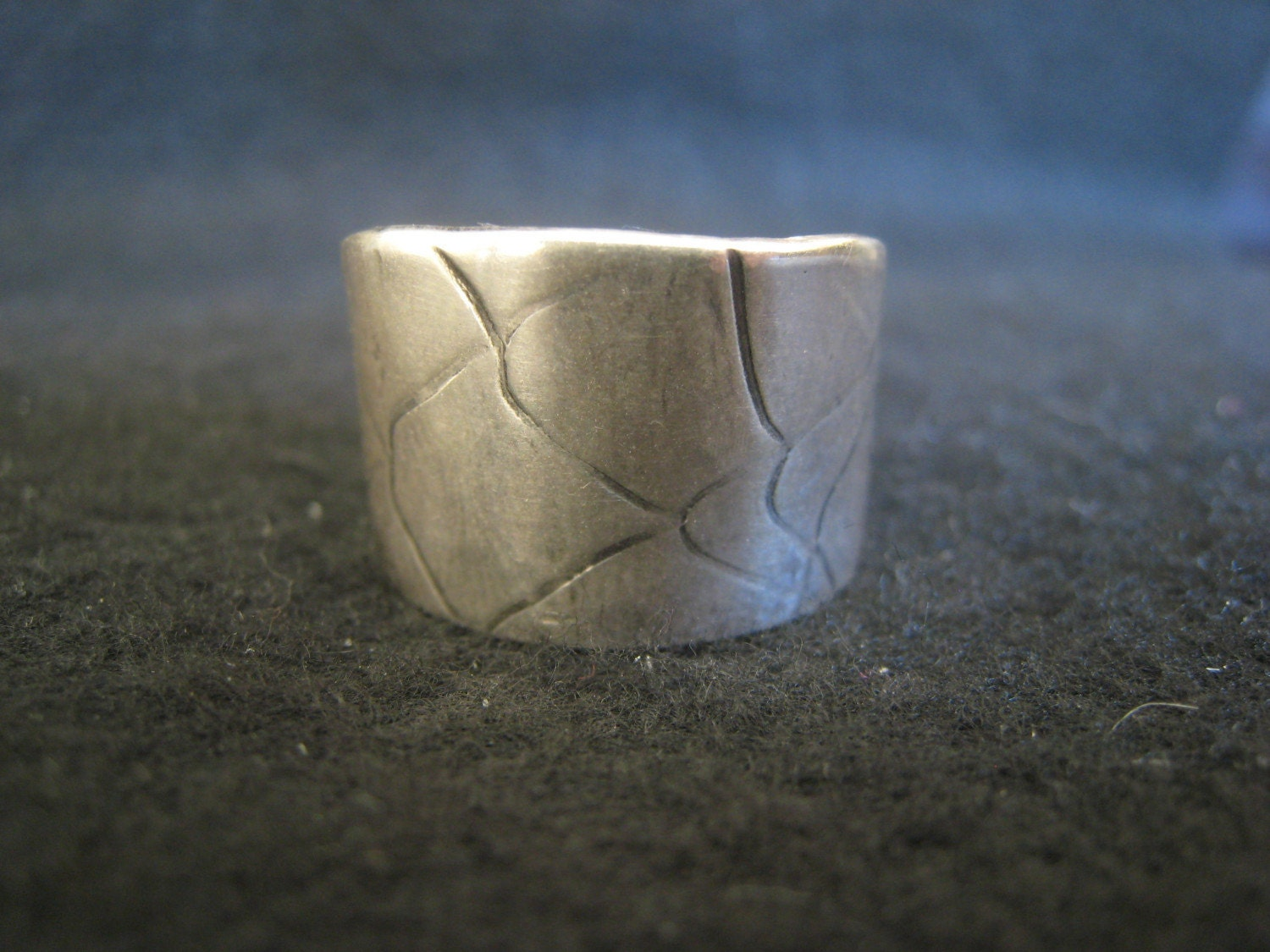 Mens Sterling Silver Scale Ring