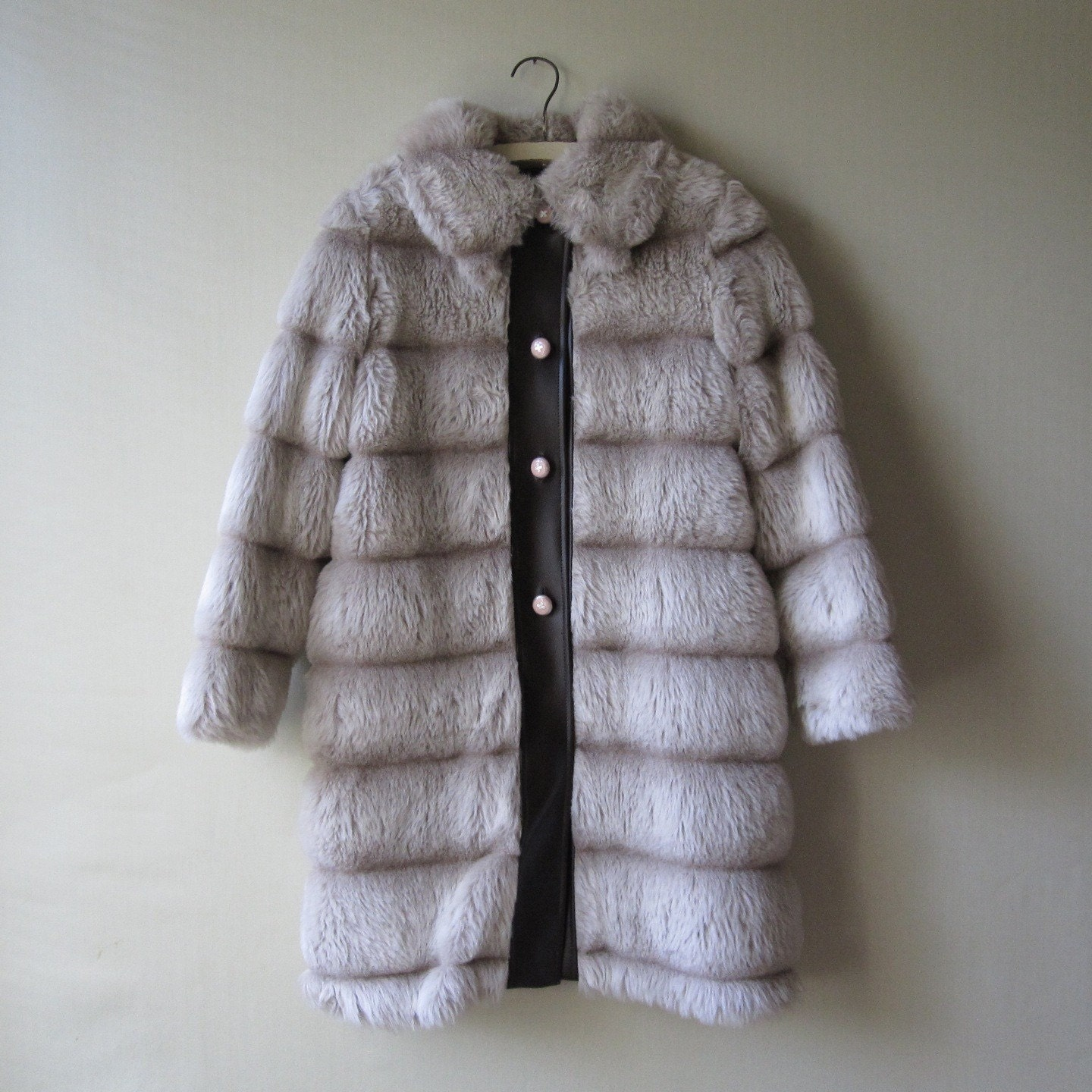 vintage Long Faux Fur Coat