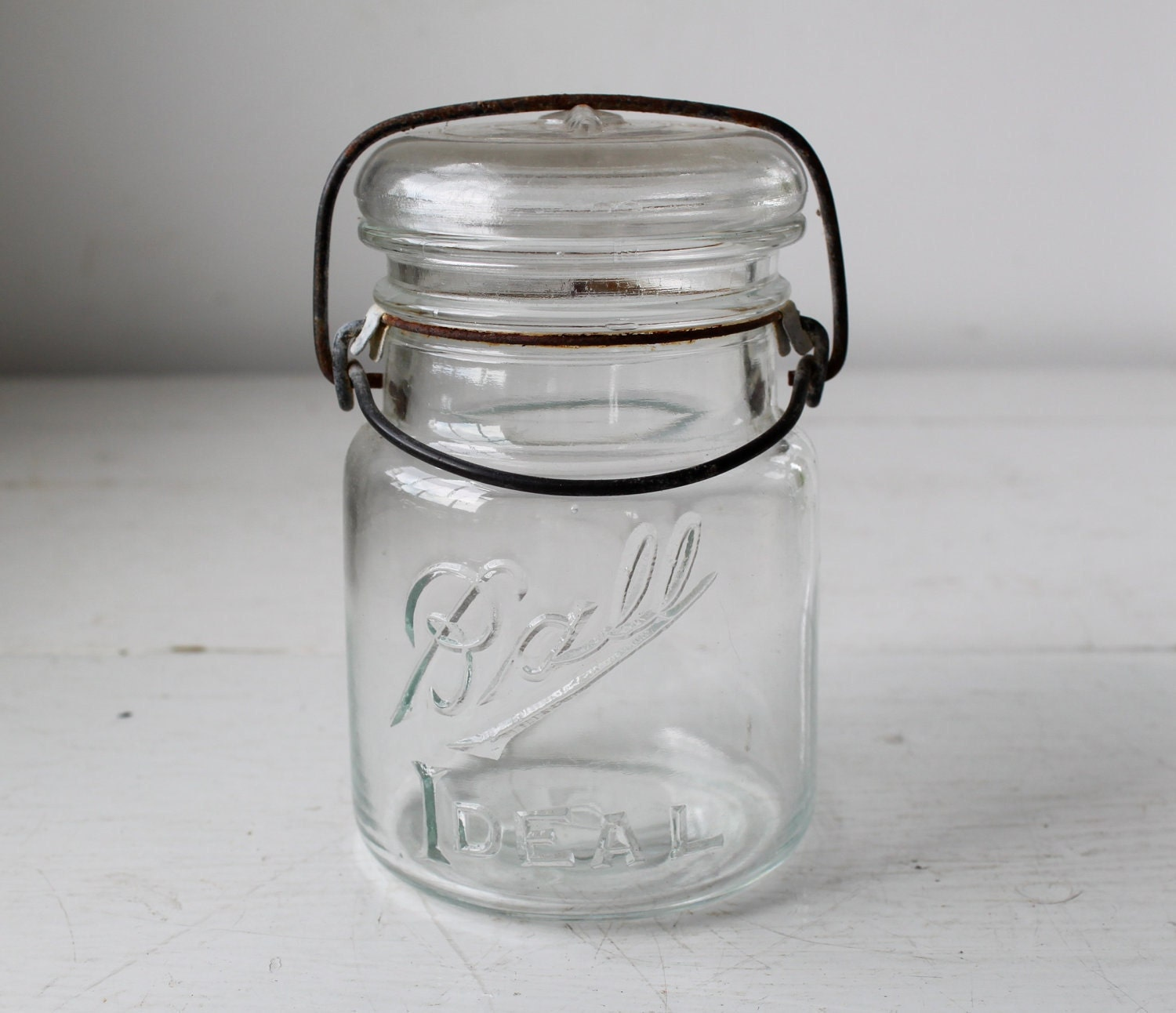 vintage 1910s BALL IDEAL pint canning jar. - Luncheonettevintage