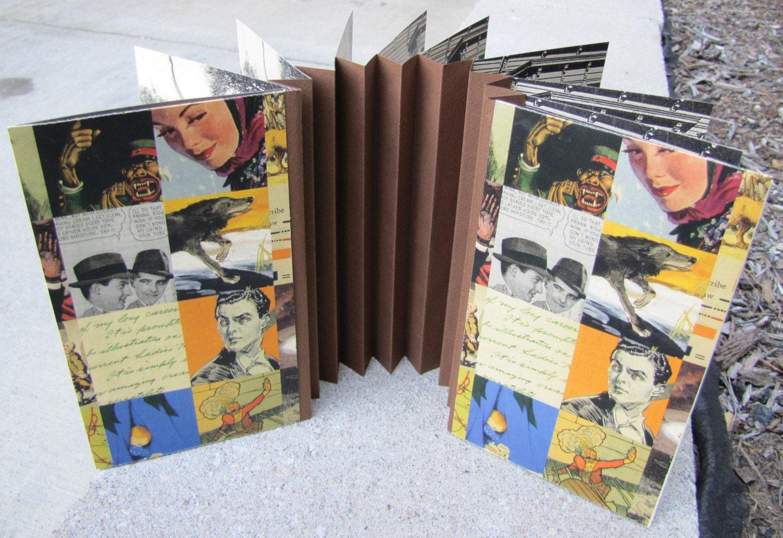 Flag Book Featuring Vintange Photo Prints