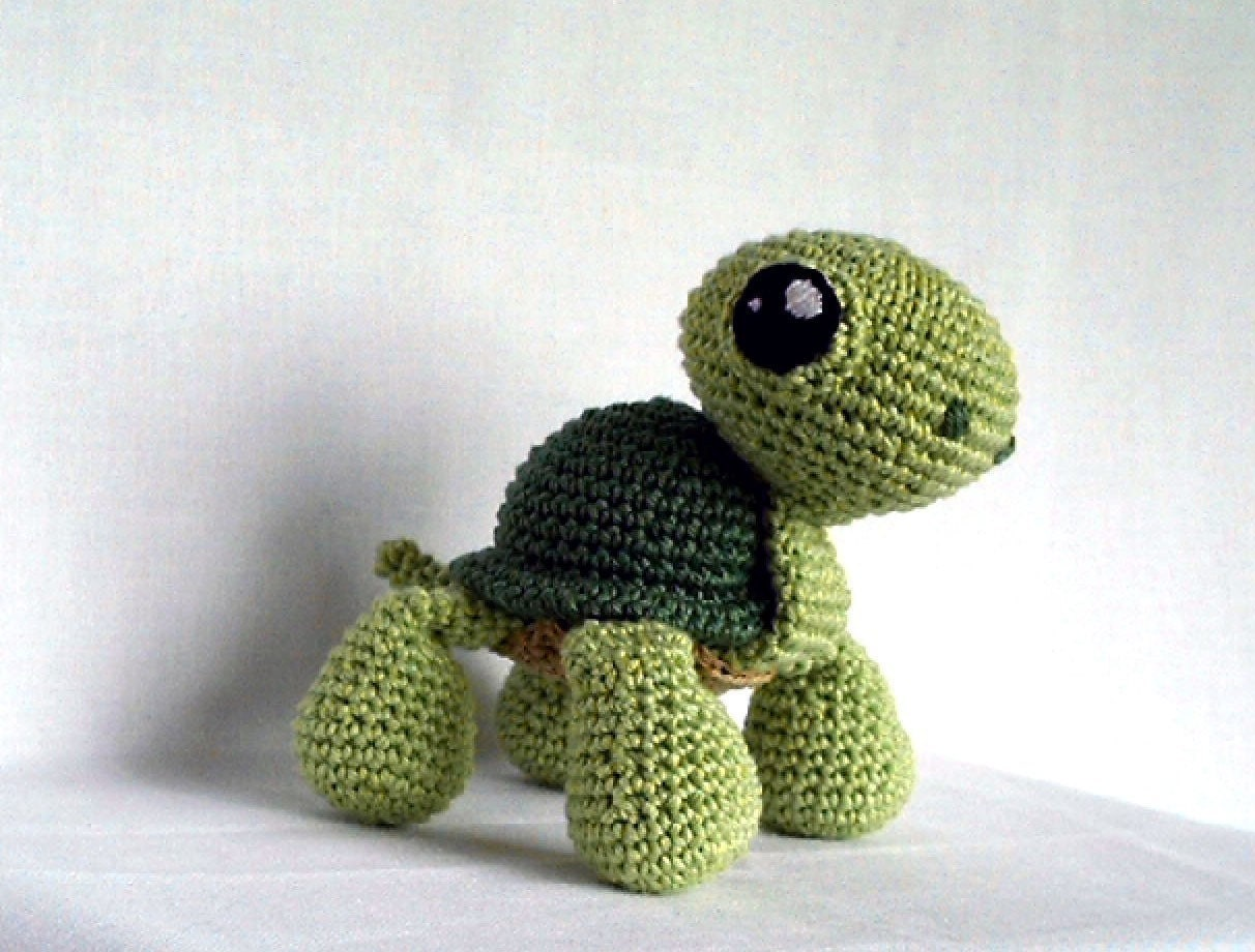 Crochet Patterns Turtle : CROCHETED TURTLE PATTERN FREE PATTERNS