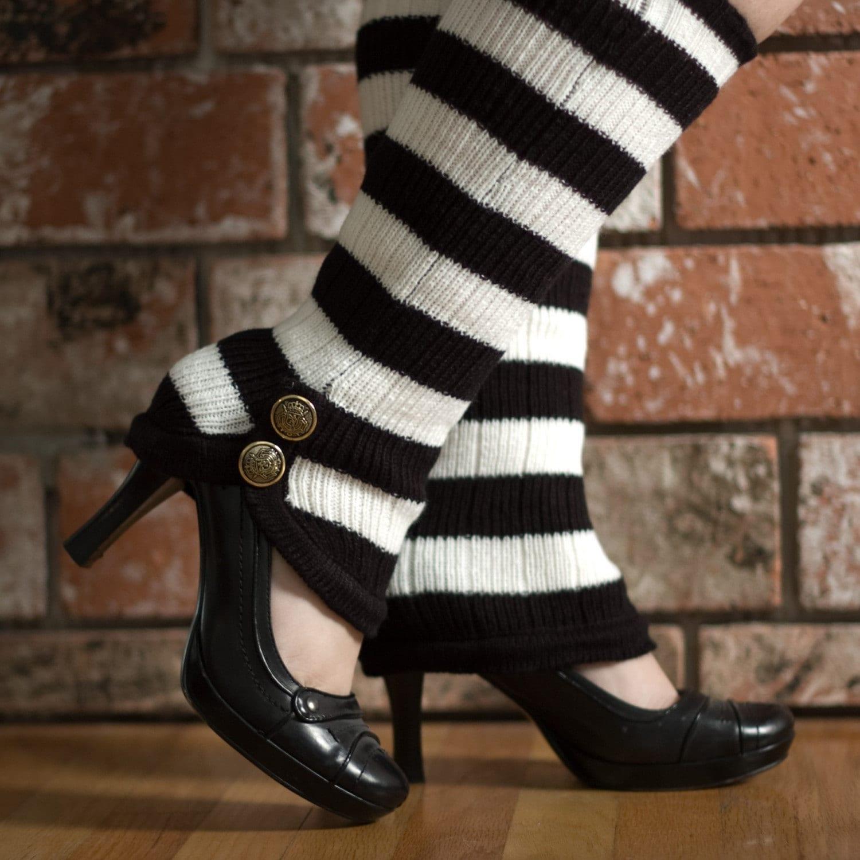 legwarmer, leg, 80s, stripes, buttons, steampunk